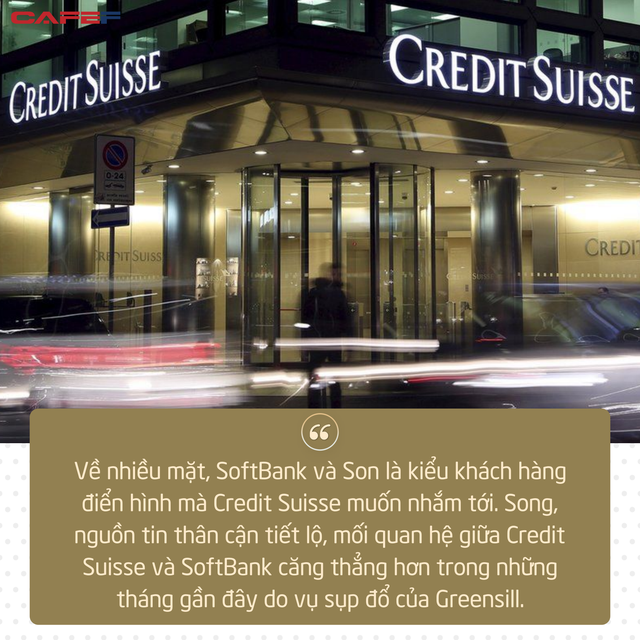 Credit Suisse chấm dứt mối quan hệ gần 20 năm với SoftBank vì Masayoshi Son quá liều - Ảnh 1.