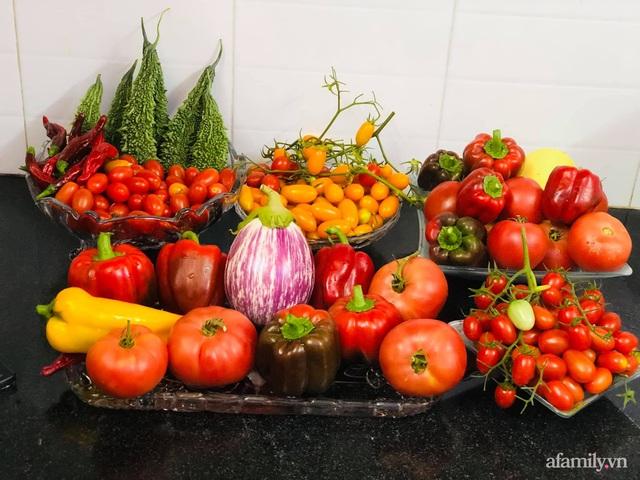 Khu vườn thạch sanh bội thu rau quả quanh năm trên sân thượng ở Sài Gòn - Ảnh 19.