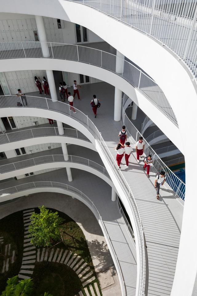 Tin nổi không, một ngôi trường học ở Tây Ninh có cảnh quan đẹp nín thở như resort cao cấp - Ảnh 4.