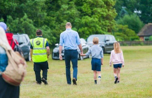 Hoàng tử William xuất hiện rạng rỡ cùng hai con, ngoại hình hiện tại của tiểu hoàng tử và công chúa gây sốt MXH  - Ảnh 5.