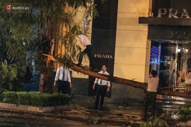 Chùm ảnh Hà Nội sau cơn mưa trắng trời: Cây đổ khắp phố phường, mất điện, người dân không kịp trở tay - Ảnh 13.