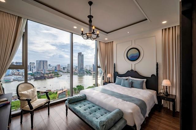 Căn hộ Indochine ăn điểm với cách phối màu cực tinh tế, phòng ngủ chuẩn khách sạn 5 sao với view đỉnh - Ảnh 12.