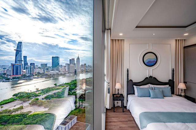 Căn hộ Indochine ăn điểm với cách phối màu cực tinh tế, phòng ngủ chuẩn khách sạn 5 sao với view đỉnh - Ảnh 14.