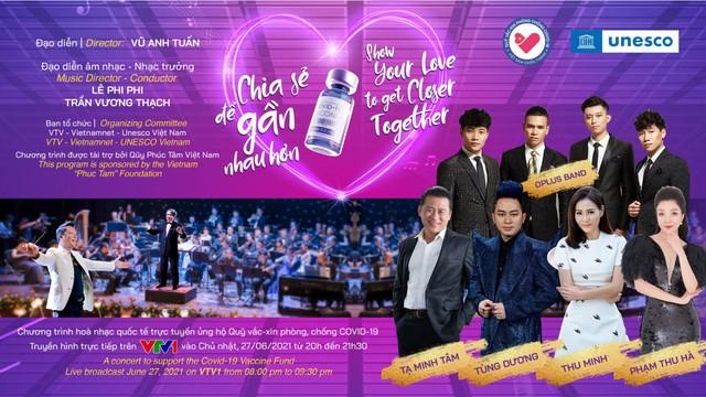 Đêm hòa nhạc giao hưởng trực tuyến ủng hộ Quỹ vaccine COVID-19: Chia sẻ để gần nhau hơn, vì một Việt Nam khỏe mạnh - Ảnh 1.
