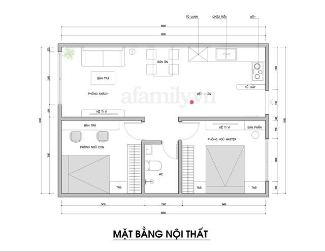 Kiến trúc sư tư vấn thiết kế nhà cấp 4 rộng 50m² cho 3 người, chi phí tiết kiệm chỉ 114 triệu đồng - Ảnh 1.