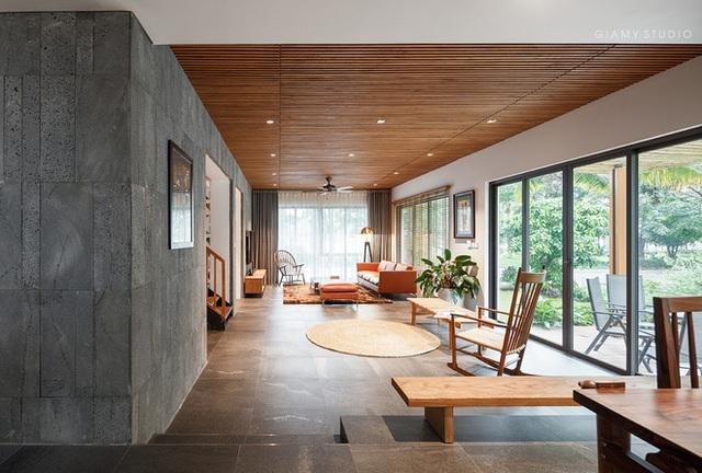 Nhà liền kề ở Ecopark: Diện tích 78m2 nhưng rộng rãi chẳng kém villa, thiết kế tối giản nhưng vẫn đầy cá tính  - Ảnh 1.