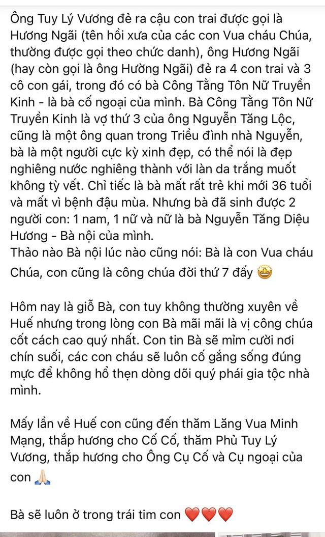 Hoa hậu Hà Kiều Anh hé lộ gia thế khủng: Là công chúa đời thứ 7, cháu vua chúa, Hà Tăng và dàn sao thốt lên điều này  - Ảnh 2.