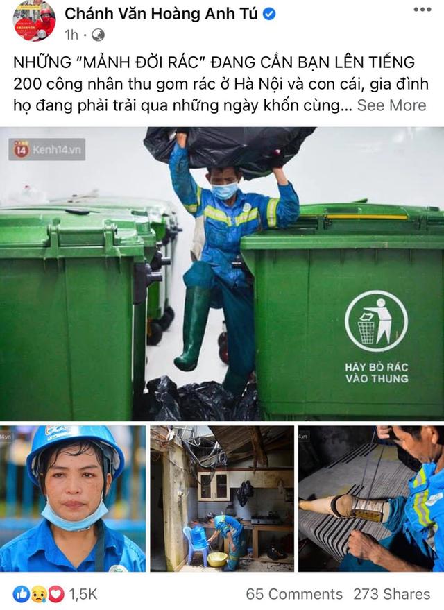 Công nhân thu gom rác bị nợ lương ở Hà Nội nghẹn ngào khi được nhiều mạnh thường quân ủng hộ: Tôi vui lắm... có hôm thức cả đêm ở lều vì sợ mất tiền - Ảnh 1.