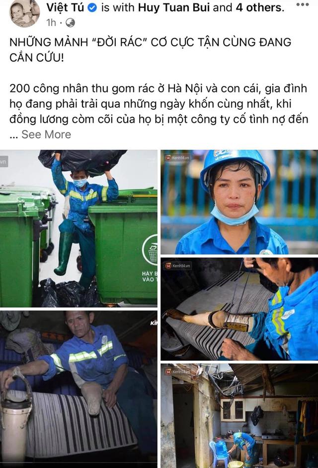 Công nhân thu gom rác bị nợ lương ở Hà Nội nghẹn ngào khi được nhiều mạnh thường quân ủng hộ: Tôi vui lắm... có hôm thức cả đêm ở lều vì sợ mất tiền - Ảnh 2.