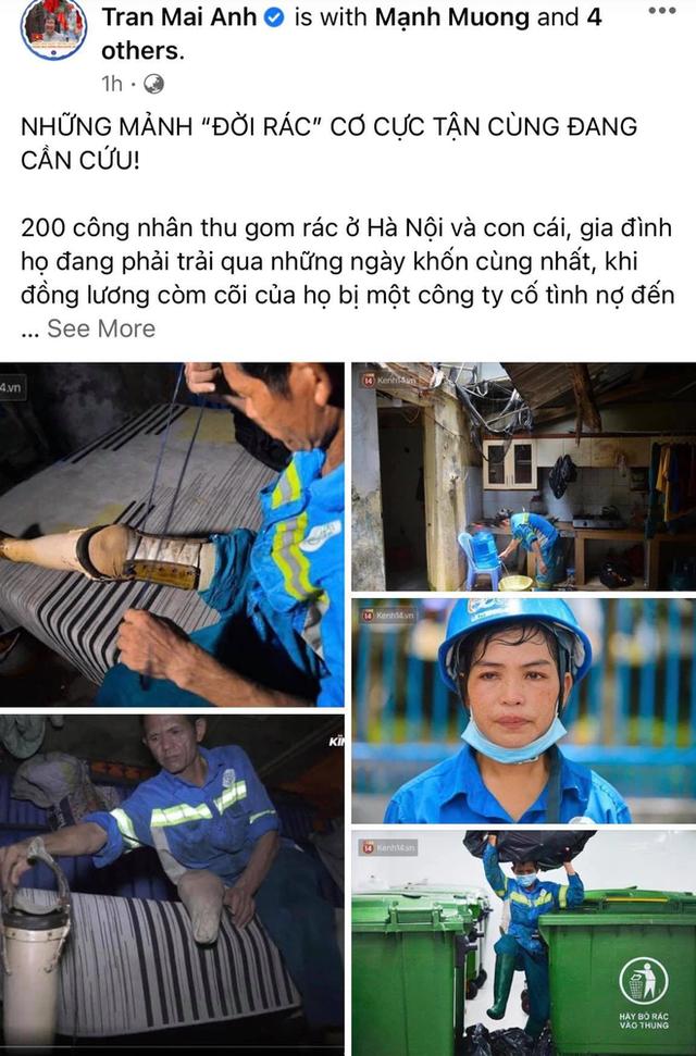 Công nhân thu gom rác bị nợ lương ở Hà Nội nghẹn ngào khi được nhiều mạnh thường quân ủng hộ: Tôi vui lắm... có hôm thức cả đêm ở lều vì sợ mất tiền - Ảnh 3.