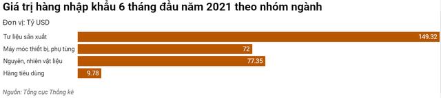 Việt Nam nhập siêu 1,47 tỷ USD trong 6 tháng đầu năm - Ảnh 3.