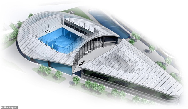 Đây sẽ bể bơi sâu nhất thế giới: Công xây dựng mất 150 triệu bảng, kích thước bằng 17 bể bơi chuẩn Olympic, người thường đừng mơ vào được - Ảnh 2.