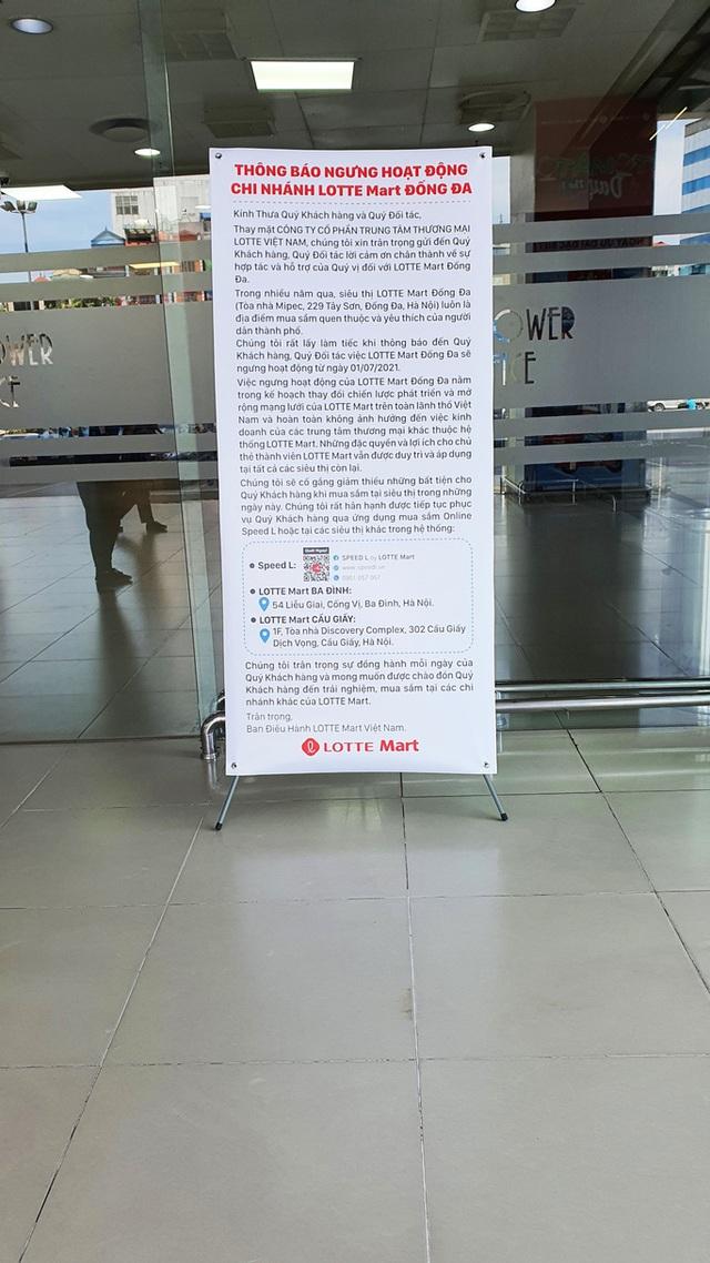 LOTTE Mart Việt Nam bất ngờ thông báo đóng cửa một siêu thị ở Hà Nội - Ảnh 1.