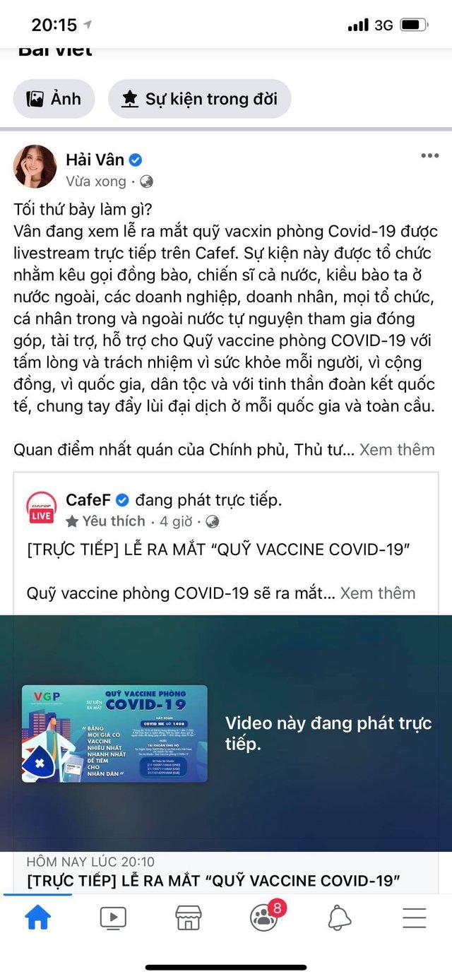Từ hoa hậu đến MC, ai cũng dành trọn tối thứ 7 để theo dõi sự kiện ra mắt Quỹ vaccine phòng COVID-19: Chung tay đẩy lùi dịch bệnh - Ảnh 1.
