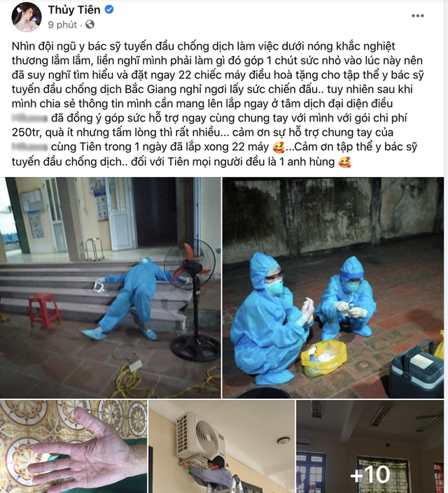 Giữa ồn ào từ thiện, Thuỷ Tiên ghi điểm khi làm điều này cho tập thể y bác sĩ Bắc Giang đang chống dịch Covid-19? - Ảnh 1.
