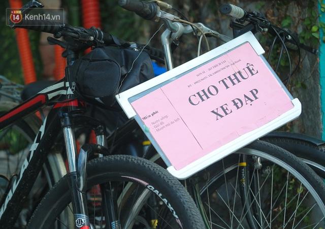 Người Hà Nội đổ xô đi thuê xe đạp, tiểu thương ung dung kiếm tiền triệu mỗi ngày - Ảnh 4.