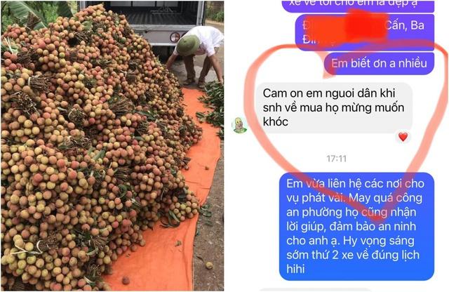 Người phụ nữ Hà Nội mua 2 tấn vải Bắc Giang để phát miễn phí, không nhận tiền ủng hộ mà hướng dẫn mọi người đóng góp cho Quỹ vaccine phòng Covid-19 - Ảnh 3.