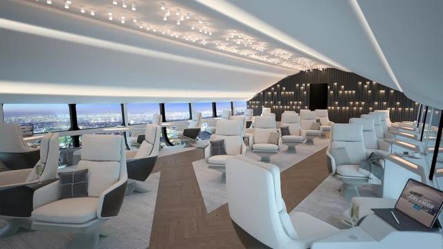 Bên trong máy bay lớn nhất thế giới: Sang như khách sạn 5 sao, bay êm ru, view tuyệt đẹp, chỉ có tốc độ là hơi chậm - Ảnh 3.