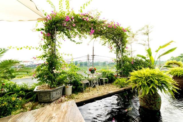 Căn nhà 5 tầng của vợ chồng Bát Tràng, thiết kế 3 ban công xanh nhưng vẫn đầu tư hẳn 400 triệu cho sân thượng 160m2  - Ảnh 6.