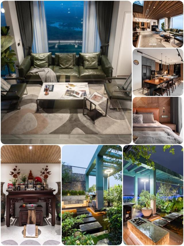 Vợ chồng trẻ thiết kế penthouse 300m2 đủ sân vườn, ao cá, hợp phong thủy trên tầng 30: Ngôi nhà đàng hoàng tức là không gian sống xanh, sạch, thoáng, phục vụ cho cuộc sống gia đình - Ảnh 2.