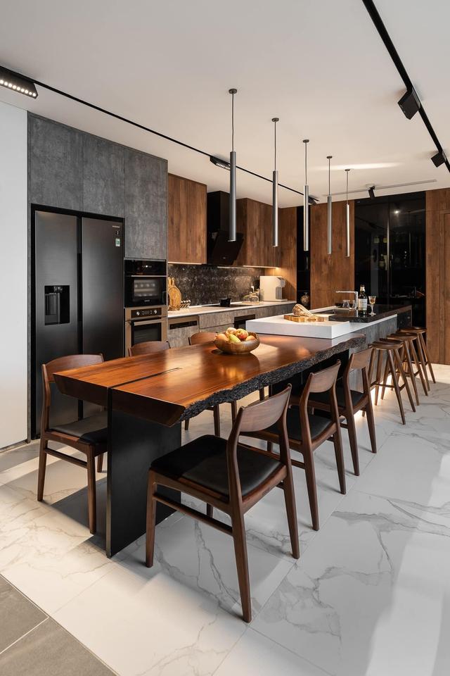 Vợ chồng trẻ thiết kế penthouse 300m2 đủ sân vườn, ao cá, hợp phong thủy trên tầng 30: Ngôi nhà đàng hoàng tức là không gian sống xanh, sạch, thoáng, phục vụ cho cuộc sống gia đình - Ảnh 8.