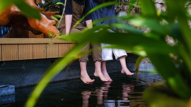 Nhà ven sông siêu chill với kiến trúc nhiệt đới, mê nhất là khu giếng trời xanh mát đến lịm người - Ảnh 6.