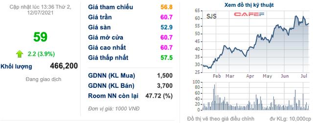 Tổng Công ty Sông Đà (SJG) sắp bán đấu giá 36,7% vốn tại SJS với giá 80.000 đồng/cp, cổ phiếu tăng kịch trần bất chấp phiên giảm điểm mạnh của toàn thị trường - Ảnh 2.