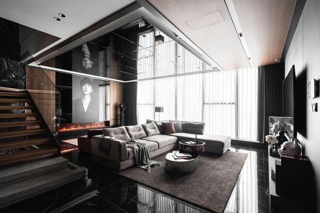 Penthouse 20 tỷ với gam màu đen huyền bí và sang trọng của 9X độc thân: Mạnh tay chốt đơn thiết kế lên tới 6 tỷ - Ảnh 2.
