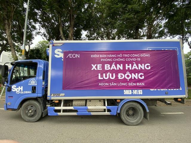 Hỗ trợ người dân Tp.HCM mua hàng thiết yếu: AEON Việt Nam triển khai siêu thị lưu động từ ngày 13/7 tại 4 điểm thuộc 3 quận - Ảnh 1.
