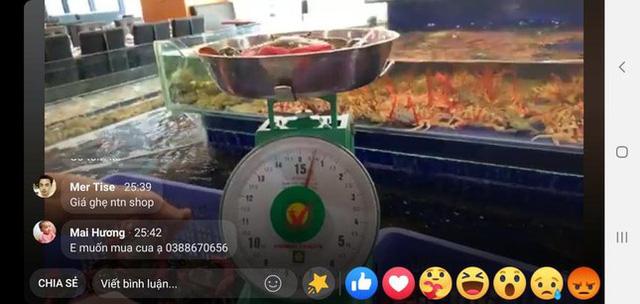 Trước giờ ngừng bán, nhiều nhà hàng tại Hà Nội livestream giải cứu hải sản - Ảnh 1.