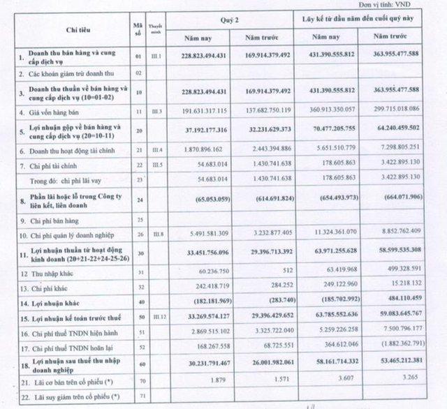 Bia Sài Gòn - Miền Tây (WSB): Quý 2 lãi 30 tỷ đồng tăng 15% so với cùng kỳ - Ảnh 1.