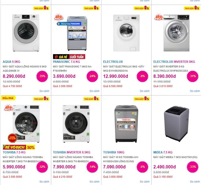 Máy giặt chạy đua giảm giá gần 50%, có mẫu chỉ từ 2 triệu đồng - Ảnh 1.