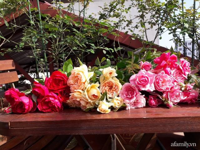 Sân thượng 50m² không khác gì trang trại với đủ loại rau quả sạch theo mùa của mẹ đảm ở Hà Nội - Ảnh 29.
