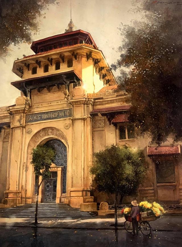 Bộ tranh Hà Nội có sức lan toả nhất lúc này: Một thủ đô đẹp thổn thức qua góc nhìn của người con Sài Gòn - Ảnh 3.
