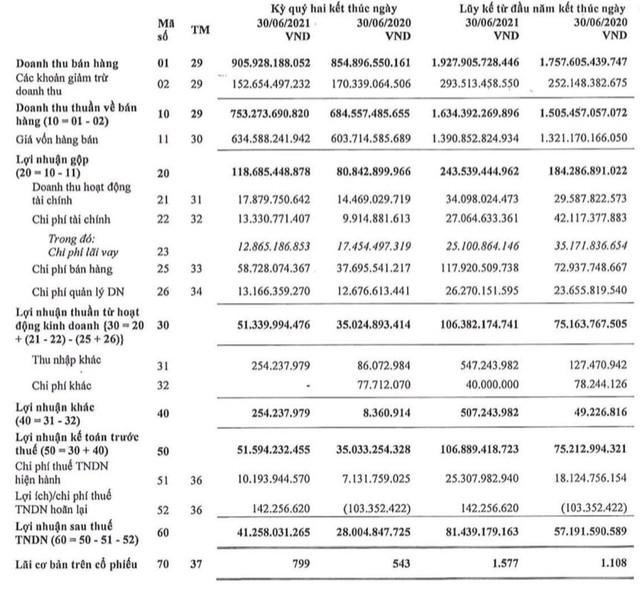 Pin Ắc quy Miền Nam (PAC): Quý 2 lãi 41 tỷ đồng, tăng 46% so với cùng kỳ 2020 - Ảnh 1.
