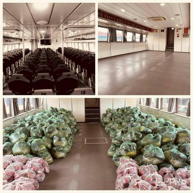 Tàu cao tốc 5 sao tháo hết ghế hành khách để chở thực phẩm, rau xanh cho TP HCM: Bình tâm nhé, dịch sẽ sớm qua thôi! - Ảnh 4.