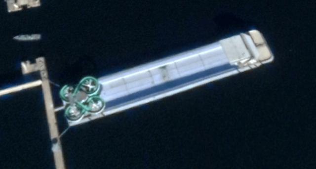 Ảnh vệ tinh phát hiện siêu du thuyền của ông Kim Jong-Un - Ảnh 1.
