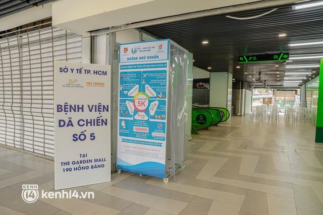 Cận cảnh bệnh viện dã chiến số 5 tại Thuận Kiều Plaza trước ngày hoạt động - Ảnh 1.