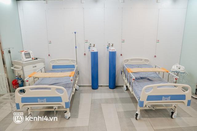 Cận cảnh bệnh viện dã chiến số 5 tại Thuận Kiều Plaza trước ngày hoạt động - Ảnh 4.