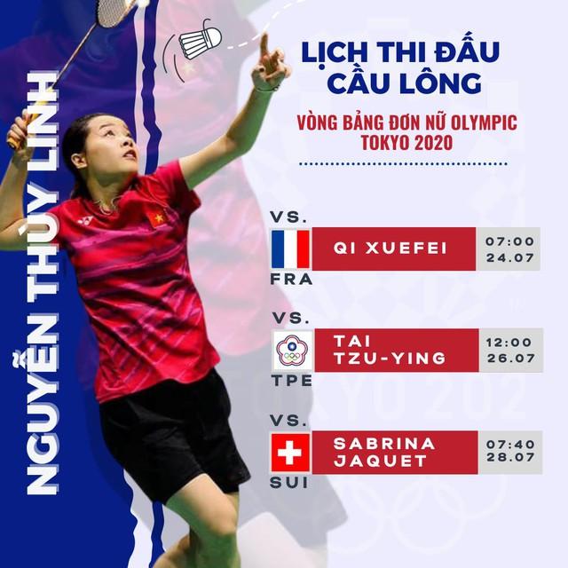 Hot girl cầu lông Nguyễn Thuỳ Linh đại thắng sao Pháp gốc Trung Quốc ở Olympic Tokyo - Ảnh 7.