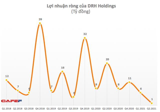 DRH Holdings: Quý 2 lãi vỏn vẹn 1 tỷ đồng, giảm 83% so với cùng kỳ - Ảnh 1.