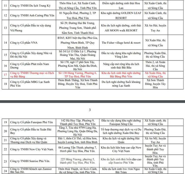 Phú Yên công khai 40 dự án bất động sản không nghiêm túc báo cáo tiến độ xây dựng  - Ảnh 3.