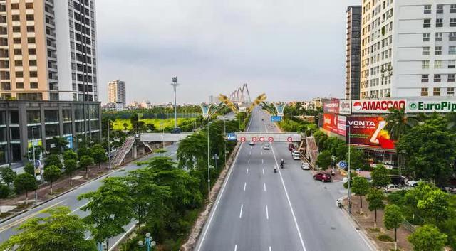 CLIP: Đường phố Hà Nội những ngày thực hiện chỉ thị 16 qua góc nhìn flycam  - Ảnh 5.