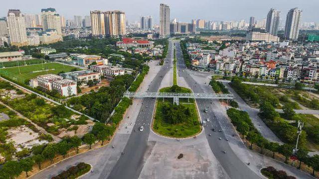 CLIP: Đường phố Hà Nội những ngày thực hiện chỉ thị 16 qua góc nhìn flycam  - Ảnh 6.