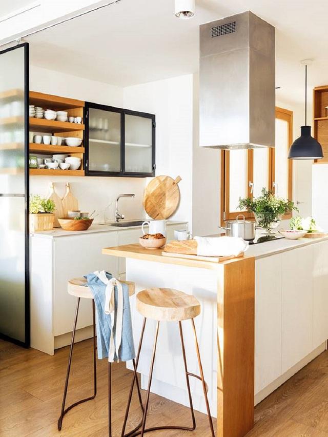 11 thiết kế bếp nhỏ đầy ấn tượng và thông minh dành cho các căn chung cư có diện tích hẹp - Ảnh 9.
