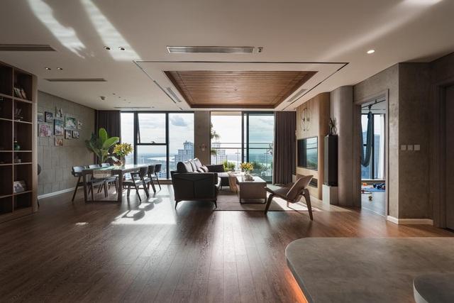 Căn hộ duplex ngập tràn ánh ánh nắng ở Hà Nội: Có nước chảy cây xanh, không gian thoáng đãng cho các hoạt động của gia đình - Ảnh 1.