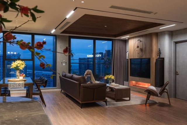 Căn hộ duplex ngập tràn ánh ánh nắng ở Hà Nội: Có nước chảy cây xanh, không gian thoáng đãng cho các hoạt động của gia đình - Ảnh 3.