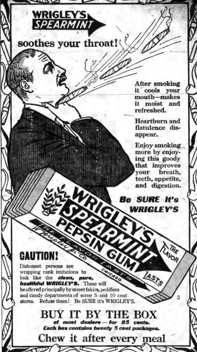 Chiêu marketing đỉnh cao của Wrigleys từ 110 năm trước, đang được áp dụng triệt để thời Covid-19: Càng khủng hoảng càng quảng cáo nhiều, nói thật nhanh và nói liên tục! - Ảnh 2.