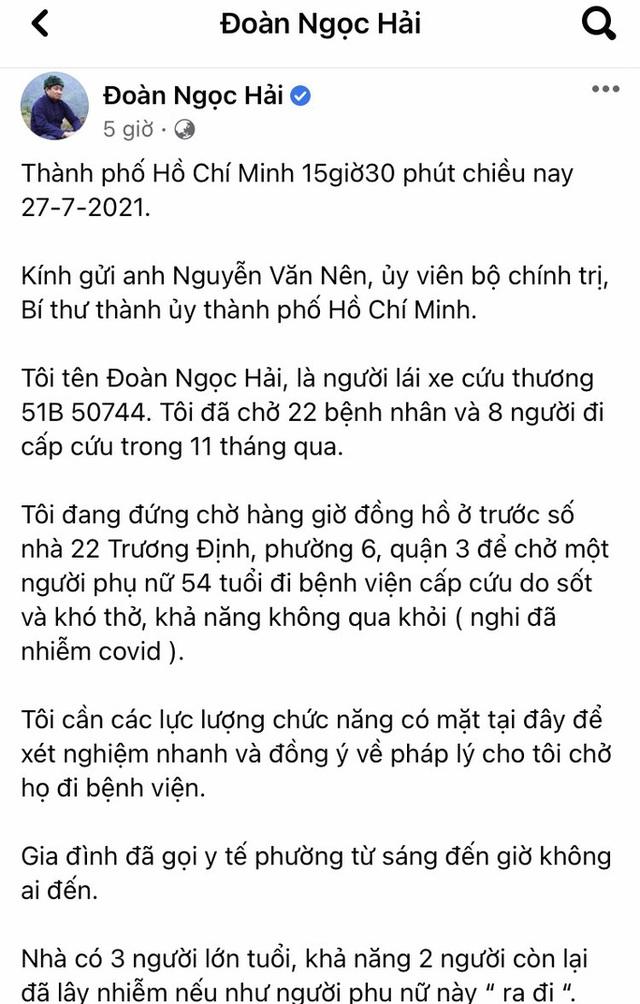 TP HCM: Quận 3 phản bác thông tin ông Đoàn Ngọc Hải phản ánh trên Facebook  - Ảnh 1.