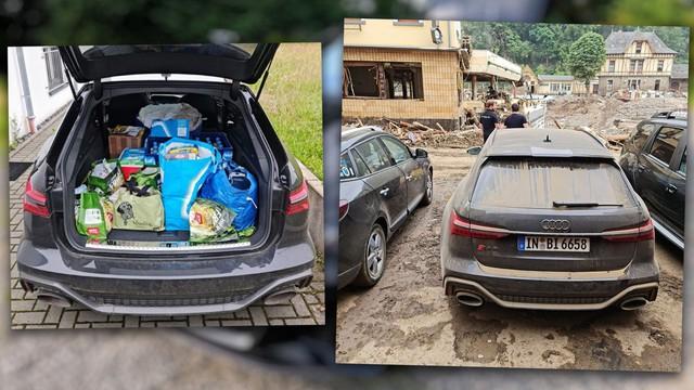 Đem chiếc RS6 hàng mượn đi cứu trợ lũ lụt, YouTuber bị Audi quở trách: Xe của chúng tôi không phải để làm việc đó - Ảnh 1.